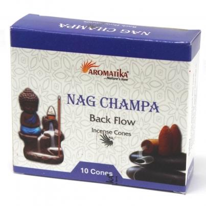 Cones do incenso do refluxo de Aromatika - Nag Champa