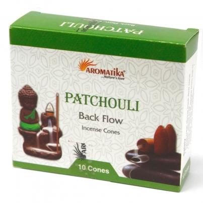 Cones do incenso do refluxo de Aromatika - Patchouli