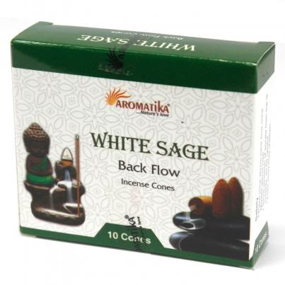 Cones do incenso do refluxo de Aromatika - Salvia Branca