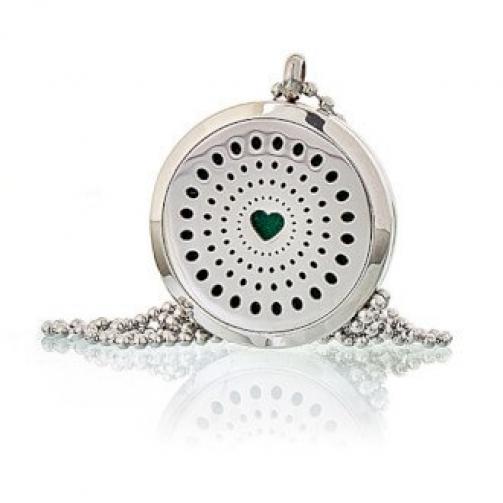 Colares De Aromaterapia - Diamantes Coração 30mm