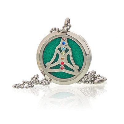 Colar de jóias de aromaterapia - chakra da ioga - 30mm
