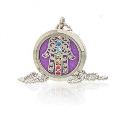 Colar de jóias de aromaterapia - Hamsa Chakra - 30mm