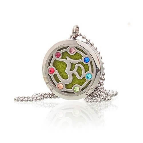 Colar de jóias de aromaterapia - OM Chakra - 30mm