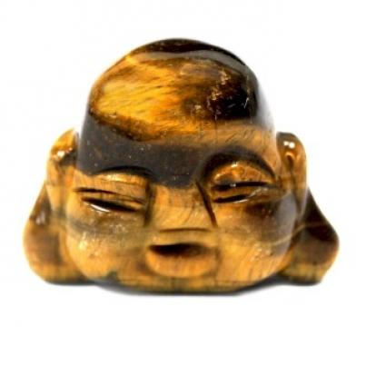 Cabeça de Buda de pedras preciosas - Olho de tigre
