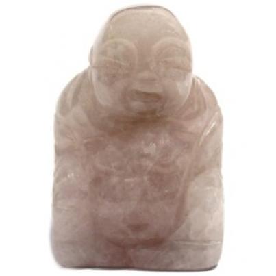 Buda de pedras preciosas - Quartzo rosa