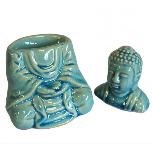 Queimador de Óleo Buda sentado - azul