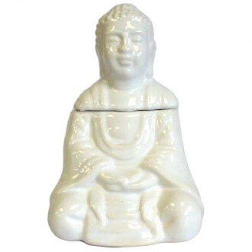 Queimador de Óleo Buda sentado - Branco