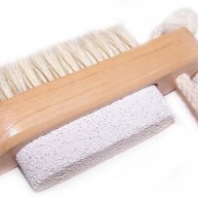 Scrub & Scrape - Pincel e pedra