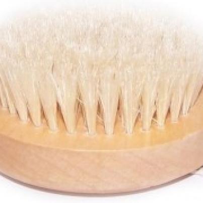 Escova para esfoliação corporal