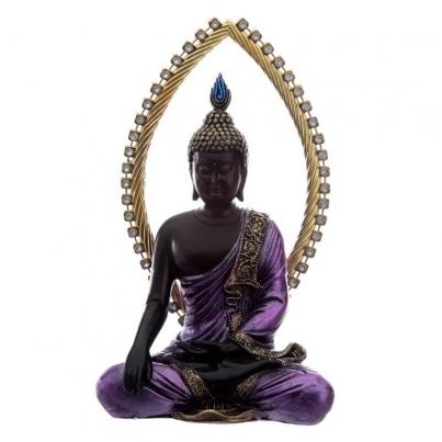 Buda Thai Roxo e Preto - Meditar