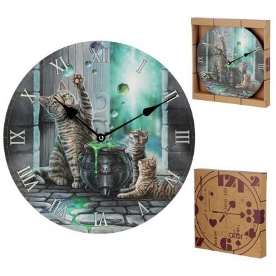 Relógio Lisa Parker - Gato Hubble Bubble e Cria