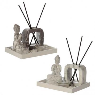 Difusor & Suporte de Velas - Buda Efeito Pedra