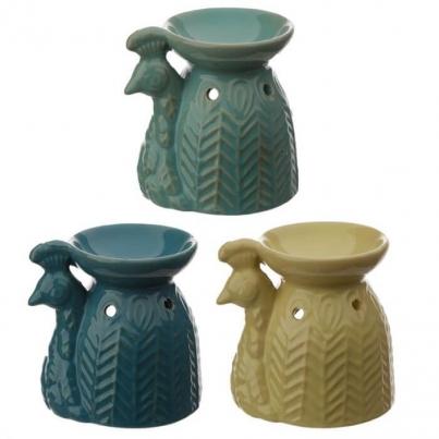 Ceramic Peacock Oil Burner