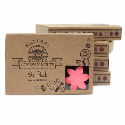 Caixa com 6 Ceras de Soja de Luxo - Rosa