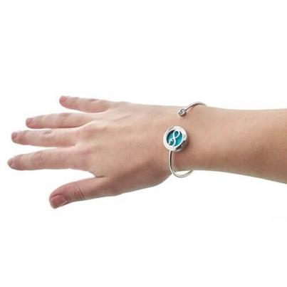 Pulseira de cristal de aromaterapia- Amor infinito - 20mm